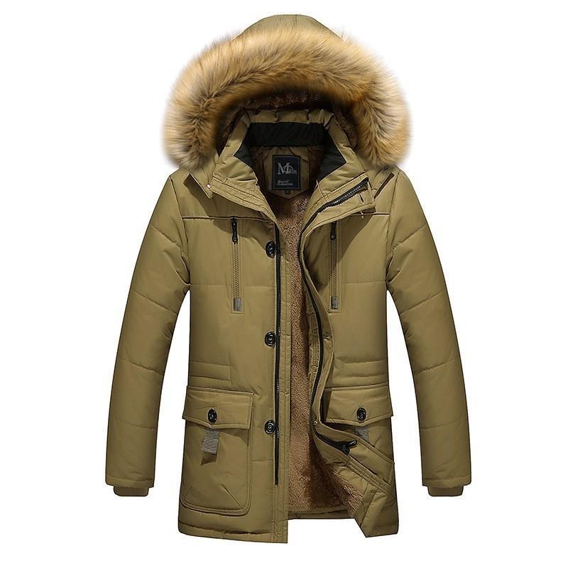 Jacket agradável Casacos Moda Tide Parka Men Sólidos Vestuário Masculino algodão acolchoado Inverno Windproof Grosso Coats
