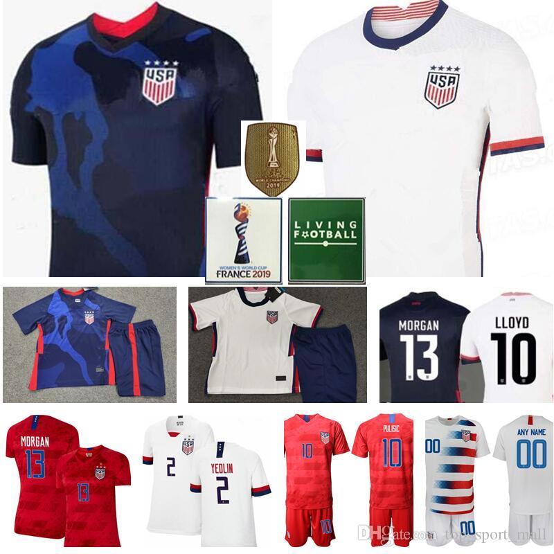 Soccer USA Jersey National Team DeAndre Yedlin Jersey Christian PULISIC BRADLEY ZARDES GONZALEZ MORRIS US American Football Shirt Navy White
