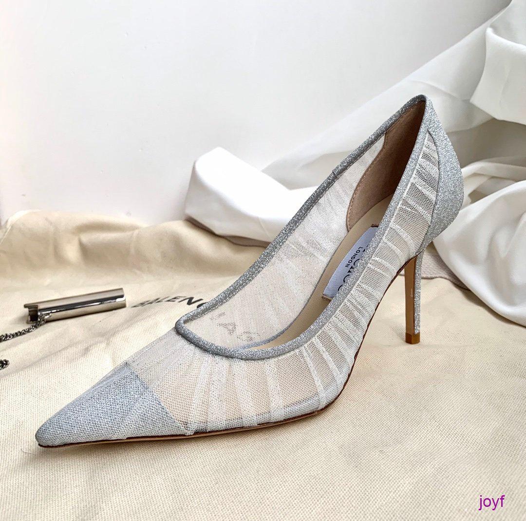 De haute qualité en cuir Talons hauts Lady Designer Sandales brillant Chaussures en cuir multiples couleurs Chaussures disponibles avec boîte 033004