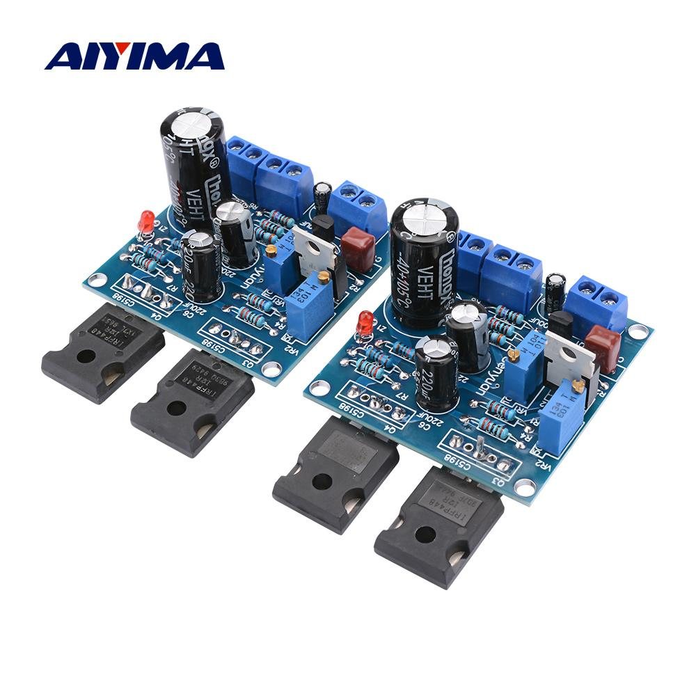 AIYIMA 1pair 1969M FET Bile Power Amplifier Board 25W + 25W 1969 IRFP448 tubo amplificador Início Sound Theatre DIY Super 1875 3886 AMP