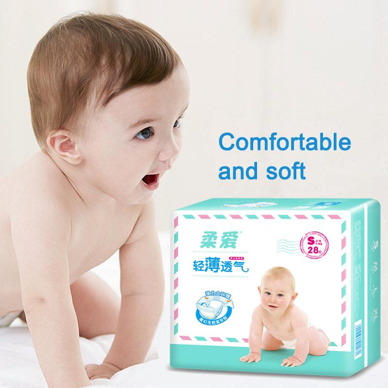 Soft Baby Diaper Baby Nappy Toilet Training Newborn Diapering Disposable Newborn Leakguards Hypoallergenic Diapers S M L XL