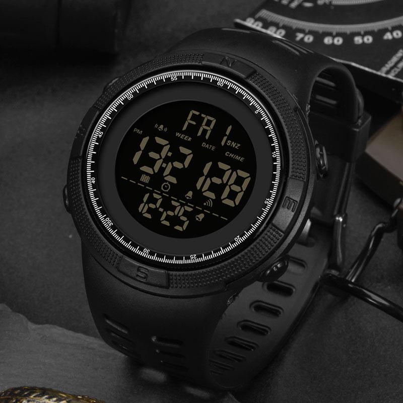 LED étanche Montre numérique Sport Homme Montres Homme électronique montre-bracelet pour les hommes Horloge SANDA Marque Armée Wristwatch