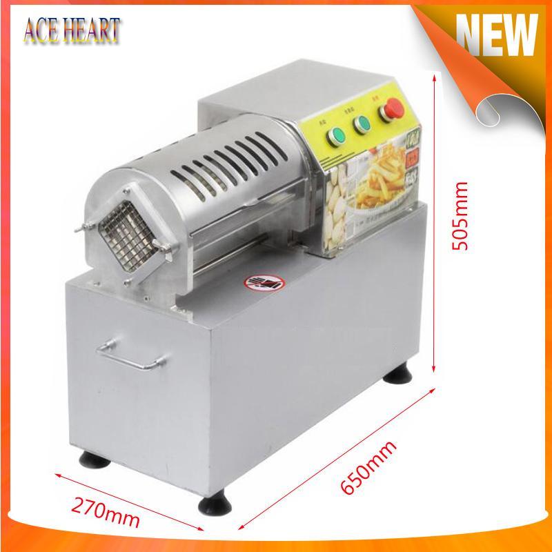 Comercial eléctrica cortador de verduras / la patata frita de cortador / berenjena trituradora / rábano cortado en tiras 220v Bajo precio