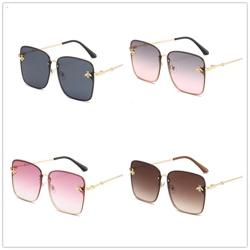 Di trasporto delle donne del progettista di lusso occhiali da sole Sovrametalli classico telaio Sun Decorazione Vetro blocco UV Moda Sunglass