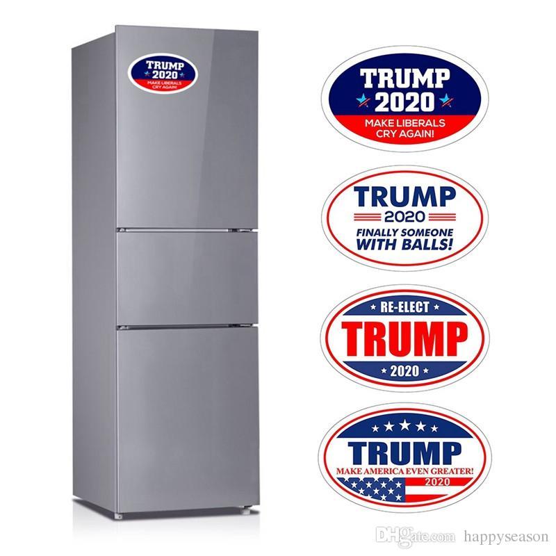 4pcs Removable Donald Trump Fridge Magnet Sticker 2020 Amercian President Election Refrigerator Stickers Keep America Great