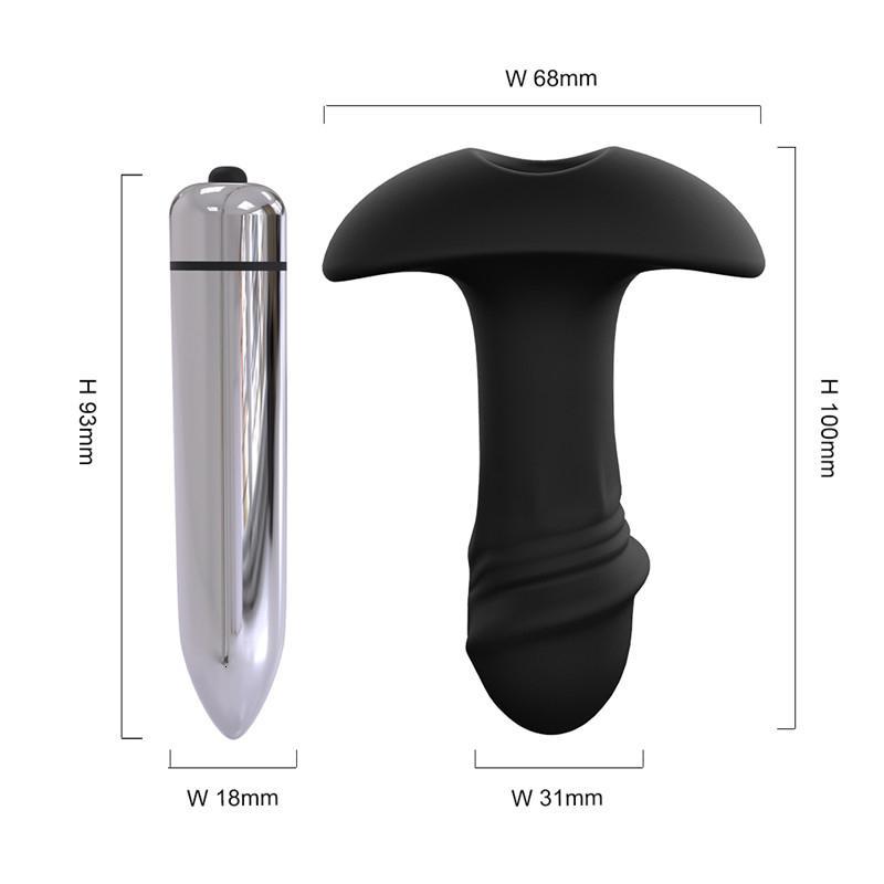 Paar Y191030 Erwachsene Anal Plug Männlichen Spielzeug Sex Plug Vibrating Sex Masturbator Massagegerät Silikon Anal Erwachsener Hintern Produkt Spielzeug Prostat Fsjut