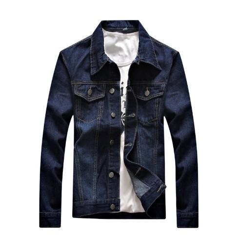 Hombres chaqueta Primavera Moda Otoño Hip Hop capa ocasional de los hombres Denim chaquetas de manga larga delgada tamaño asiático M-3XL