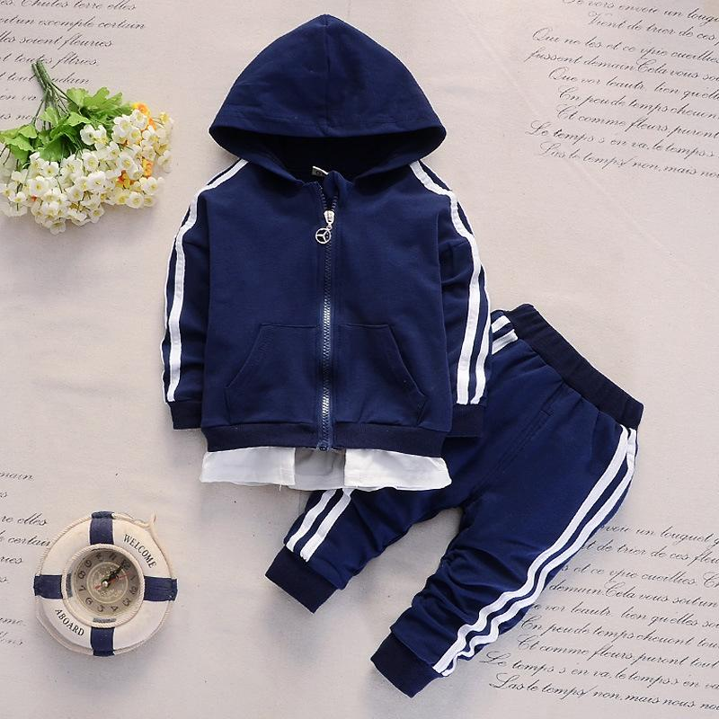 New Spring And Autumn 1-4-Year-Old Baby Two Bars Brace Long-Sleeve Womens Sweats & Hoodies Pants Two Childrens Set