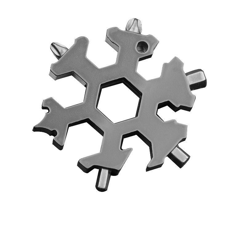 tarjeta de snowboard llavero color destornillador para regalo de Navidad 2 herramienta de copo de nieve de acero inoxidable para exteriores Multiherramienta de copo de nieve 18 en 1