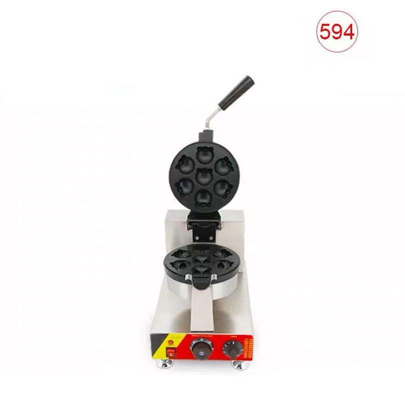 Ticari Çevirme Ahtapot Şekilli Waffle Fırın Karikatür Dolması Waffle Kek Makinesi Küçük Kek Makinesi Elektrikli Snack Ekipmanları NP-594