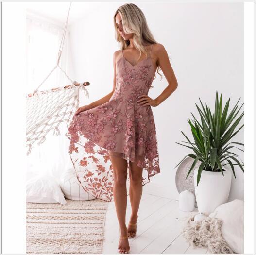 Европа и Соединенные Штаты новый взрывной сексуальный слинг нерегулярные кружева шить платье бандаж skirt348