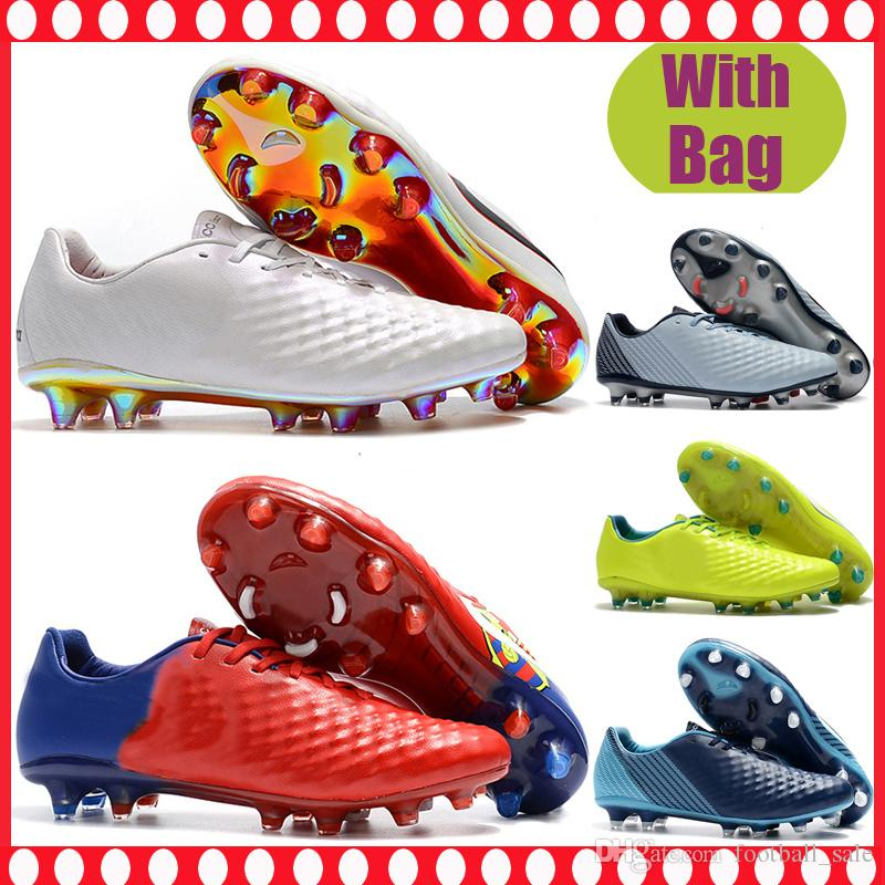 Cheap Mens Magista Opus II FG Soccer Cleats Leather ACC Outdoor Soccer Boots Magista Obra Firm Ground Football Shoes scarpe da calcio