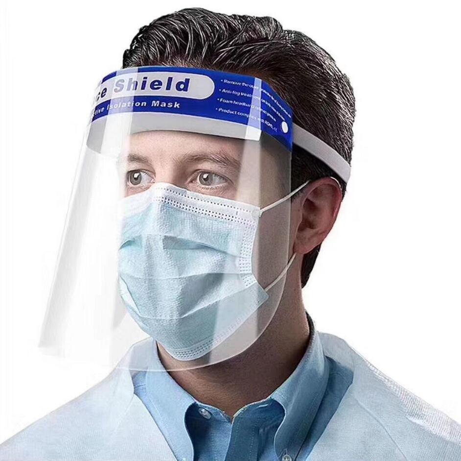 HD 클리어 페이스 실드 절연 보호 투명 페이스 마스크 어린이 성인 CE와 풀 페이스 아이 입 보호자 야외 착용 마스크