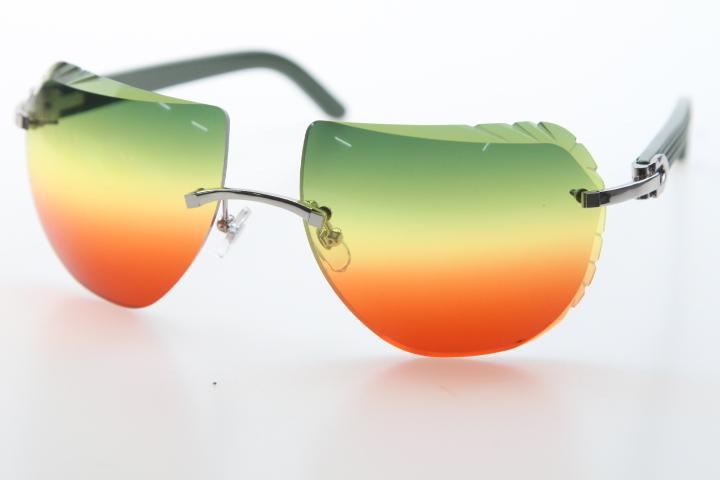 무료 배송 무테 선글라스 8200763 녹색 판자 안경 디자인 2020 핫 무테 선글라스 새로운 쉴드 광학 남여 C 장식