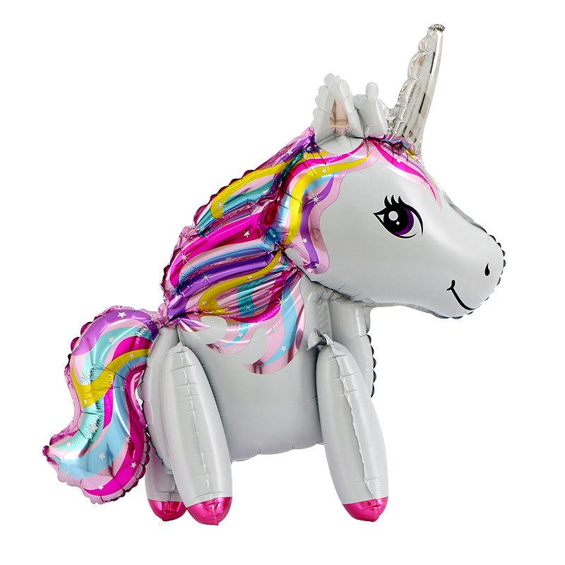 Baby Shower 3D Rainbow Unicorn Foil Balloons Birthday Party Decorations Kids Fashion DIY Balloon Party Supplies Wedding Decor,9
