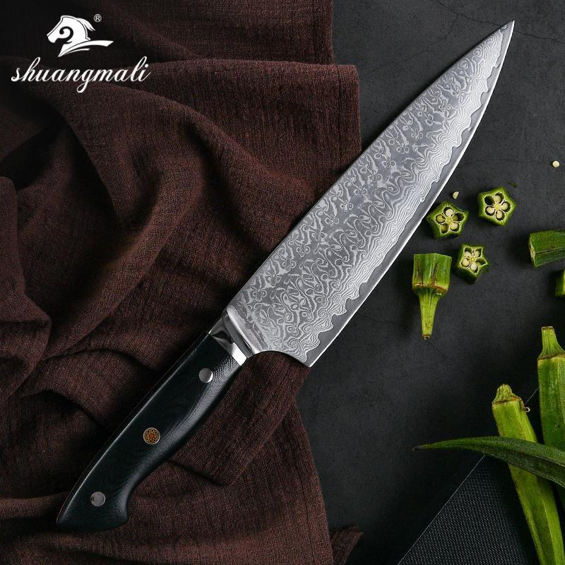 8-Zoll Küchenmesser 67 Schicht Damaszenerkochmesser Japanische Art-Koch Cleaver Geschenk Knive Home Küchenwerkzeug und G10 Griff