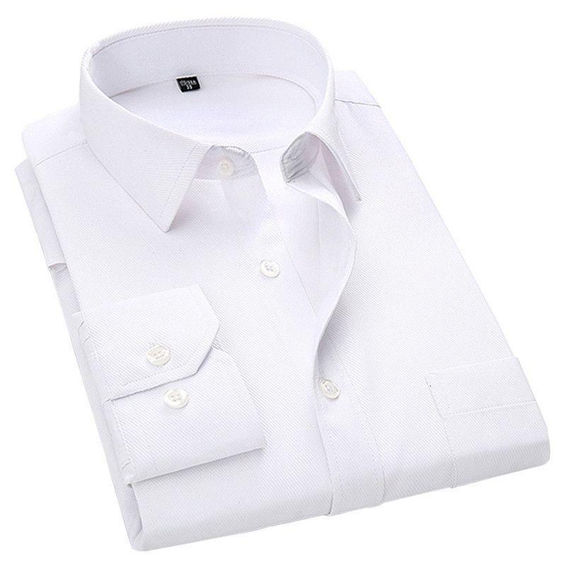 Большой бизнесмен свободный рукав длинный рукав белую рубашку синий черный умный мужской халат социальной рубашки
