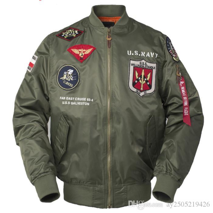 Printemps et automne hommes veste col montant manches longues NASA Space Agency costume de baseball mince MA-1 veste de vol