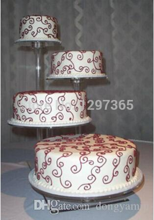 4 Tier Beautiful Detachable Cheap Acrylic Wedding Cake Stands Acrylic cupcake Stands decoration