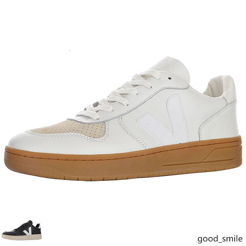 Veja V-10 supplémentaires en cuir Sneaker pour Sneakers DESIGNER Hommes Hommes luxe Paniers Chaussures Marque Skate Femmes Femmes Luxe Paris Casual Chaussure