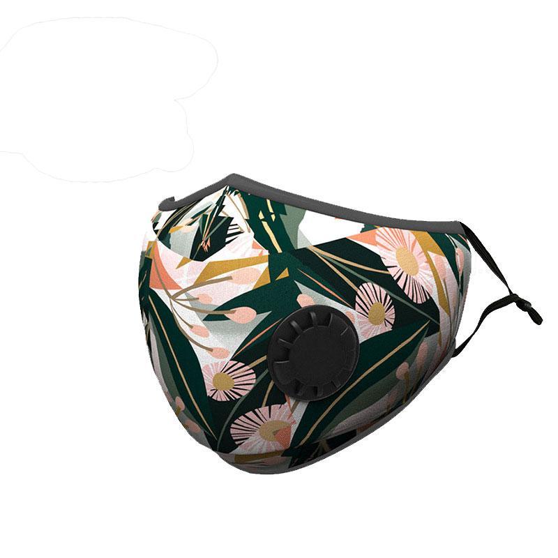 Moda de la venta caliente Polvo de algodón reutilizable PM 2.5 Prueba de protección máscara de carbón activo Juego para toda la temporada