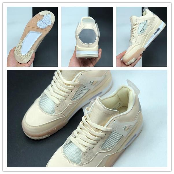 Nakeskinالأردنالرجعية أصيلة 4 شراع أبيض أسود 4S أحذية IV الهواء الرياضة حذاء رياضة الرجعية الرجال WMNS كرة السلة المدربين CV9388-100