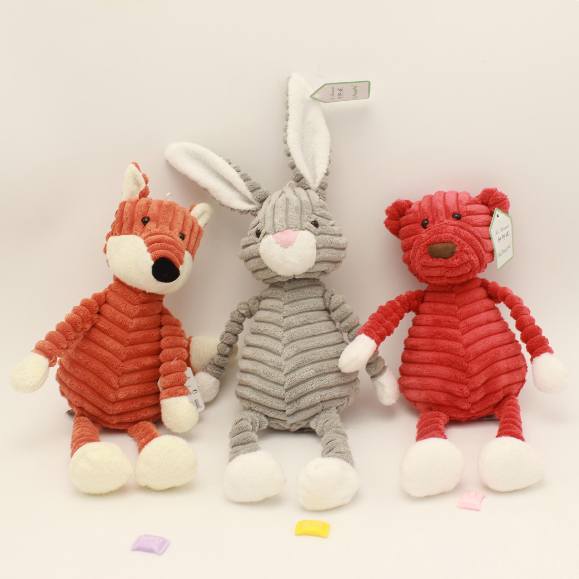 귀여운 Torest 동물 봉제 장난감 줄무늬 아기 사자 코끼리 토끼 여우 돼지 팬더 오리 원숭이 부드러운 봉제 인형 아이 소녀 선물