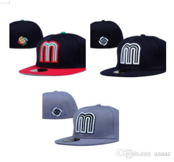 الجملة ترتيب ميكس المكسيك جميع فرق الرجال جاهزة قبعات البيسبول قبعات Snapback شحن مجاني