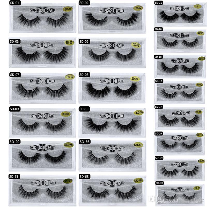 2019 20styles nuevo stock disponibles las pestañas 3D Mink pestañas falsas de extensión de pestañas atractivo completa latigazo del ojo al por mayor de envío rápido de DHL