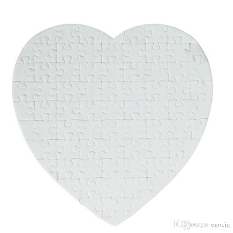 MDF sublimação em branco transferência térmica DIY Heart-shaped Pearlescent forma do amor coração do enigma transferência quente impressão em branco consumíveis quebra-cabeça