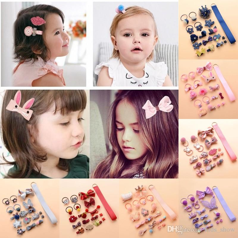 6Pcs//set Hairpin Girl Kids Infant Hair Clip Bow Flower Mini Barrettes Wholesale