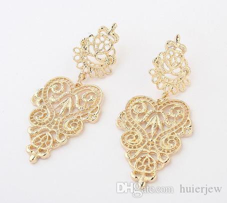 귀걸이 아름답게 보석 브랜드 디자인 귀 커프 문 패션 보석 새로운 한국어 귀걸이 스터드 팩 실버 골드 보헤미안 귀걸이
