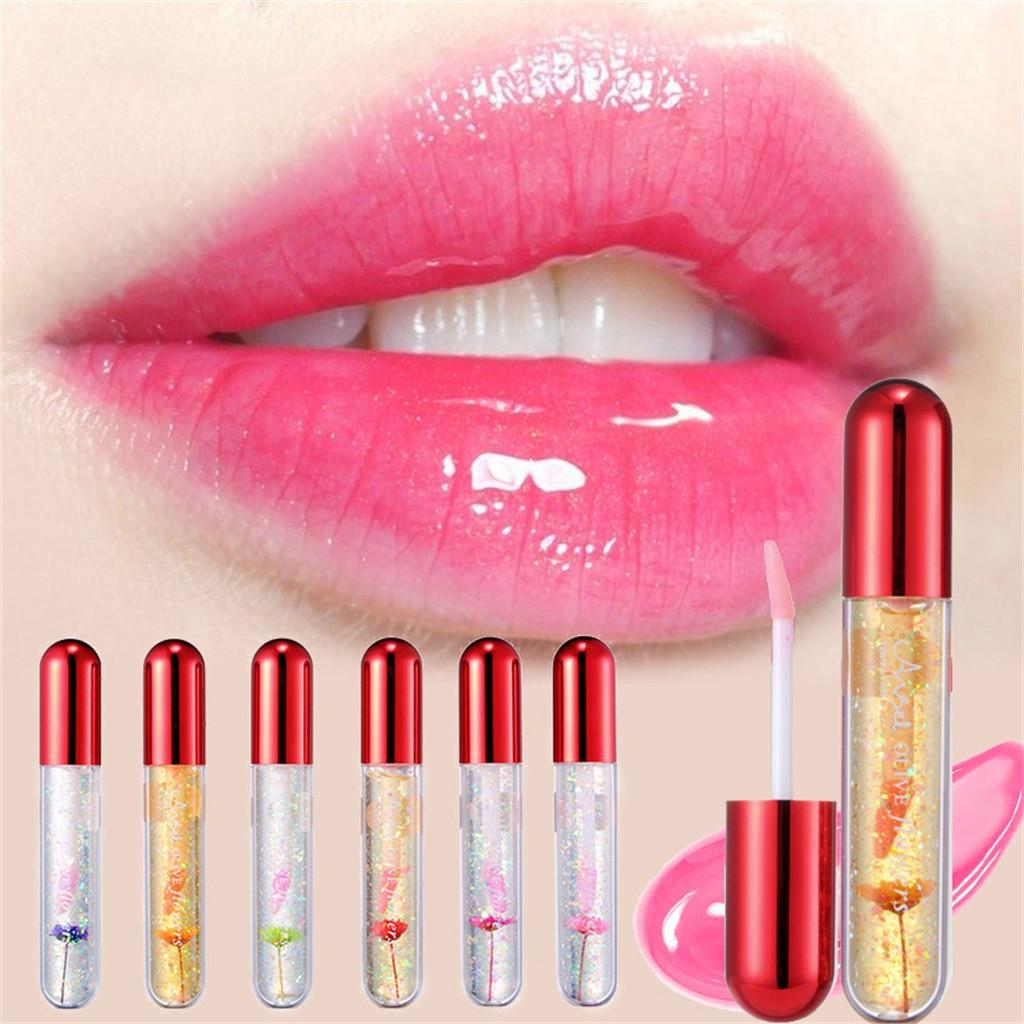 Beauty Makeup Brighten Flower Crystal Jelly Lipstick Magic Temperature Change Color Lip Gloss maquiagem profissional completa