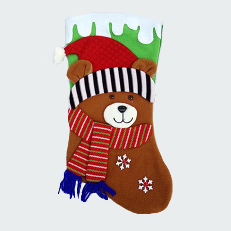 44см / 17.3»Плюшевое большой рождественский чулок снеговик Санта-Клаус оленей ребенок рождество запасается дети подарок сумки