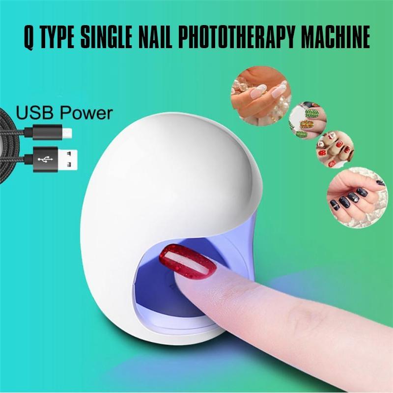 Mini Q Portable USB-Schnittstelle einziger Nagel Phototherapie Maschine Nagellack schnell trocknende Maschine