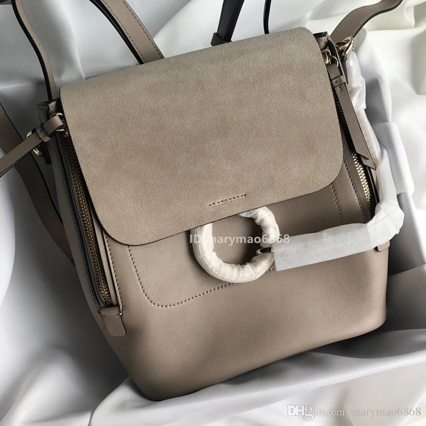 Newest LUXURY Bags Genuine Leather Ring Women Designer Backpack Strap Shoulder Famous Mini Backpack Women Handbags Wallets School bag