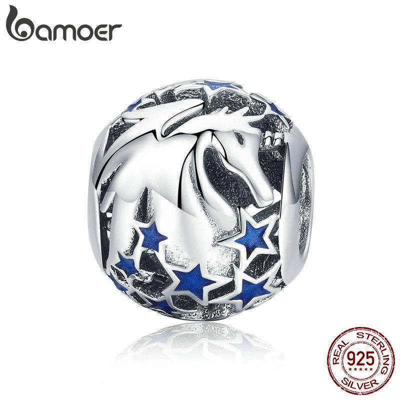 Estilo Pandora Nova Coleção 925 Sterling Silver Licorne Blooming Estrela Beads Fit Charme Pulseiras Colares de Jóias Acessórios