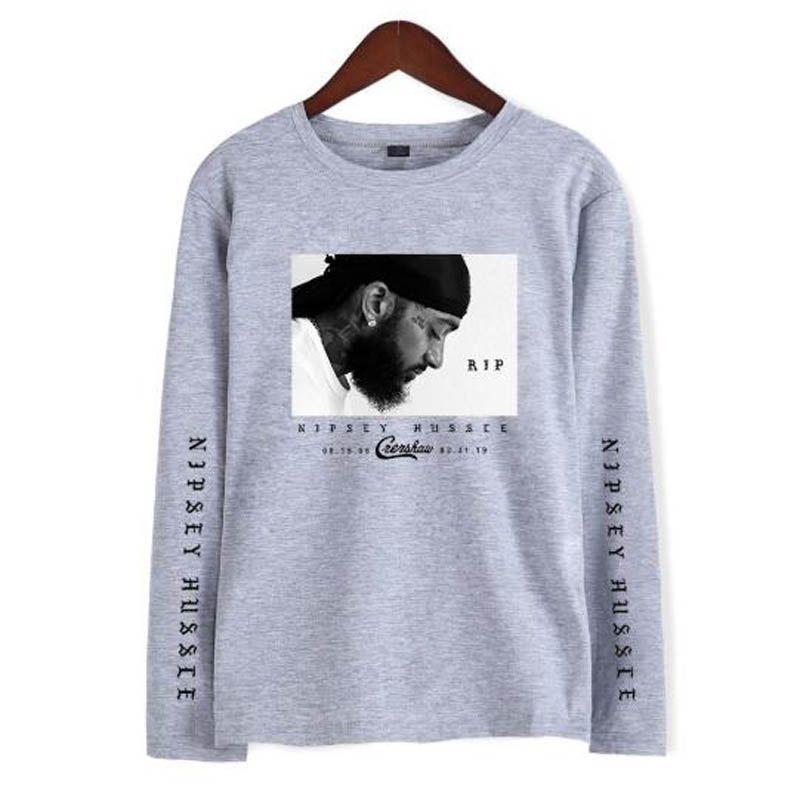 Nipsey hussle модные футболки женщины мужчины прохладный T-shir 2019 Новый повседневная с длинным рукавом хип-хоп футболки топы для весны плюс размер