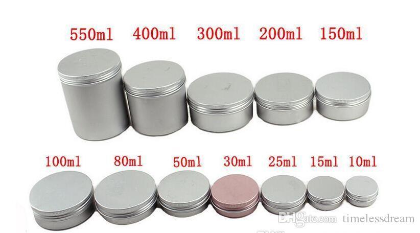 5 мл 10 мл 15 мл 20 мл 25 мл 30 мл 50 мл 60 мл 150 мл Алюминиевый блеск для губ контейнер крем банку косметический контейнер