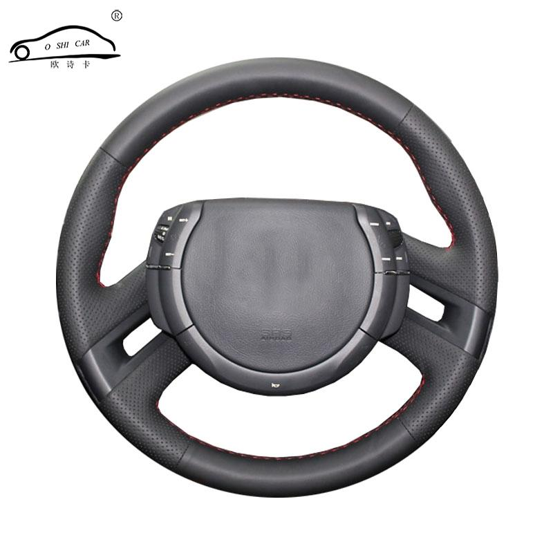 Artificial Leather car steering wheel braid for C4 Picasso 2007-2013/Custom made Steering cover