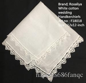 Set di 12 fazzoletti da donna bianchi 100% cotone da sposa fazzoletto da sposa Asciugamano Vintag Bordi in pizzo Hankies Hanky 12x12 pollici