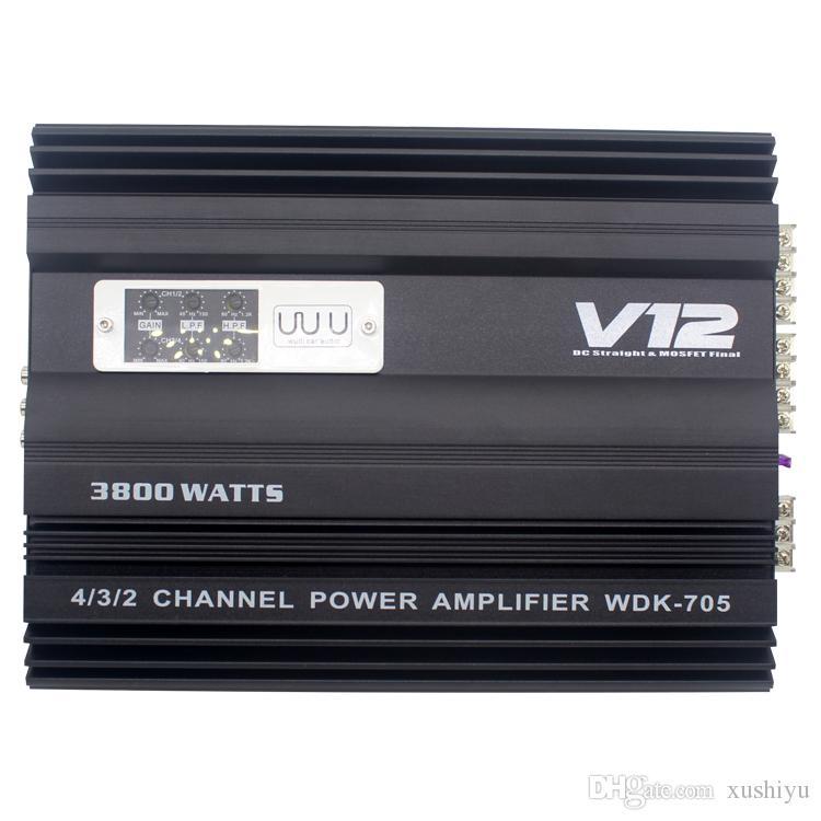 4 dört kanallı amplifikatör araba amfi güç amplifikatörü kurulu itme oto ses hoparlörleri