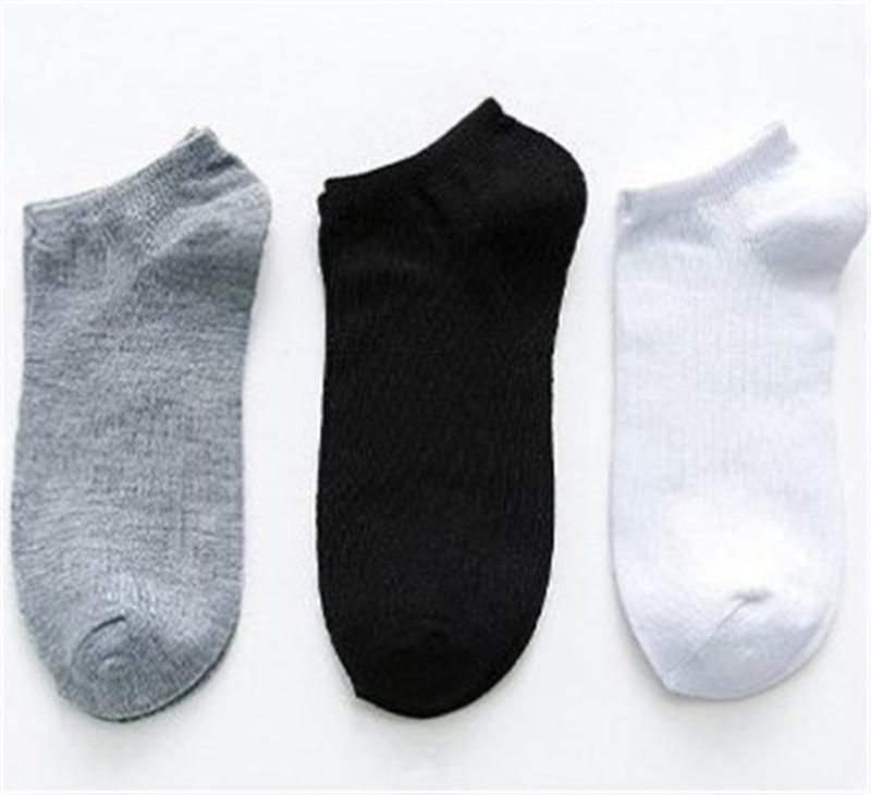Çorap Siyah Beyaz Gri Bilek Spor Çorap Casual Nefes ve Ter Soğurma İç Katı Renk Erkek Yaz