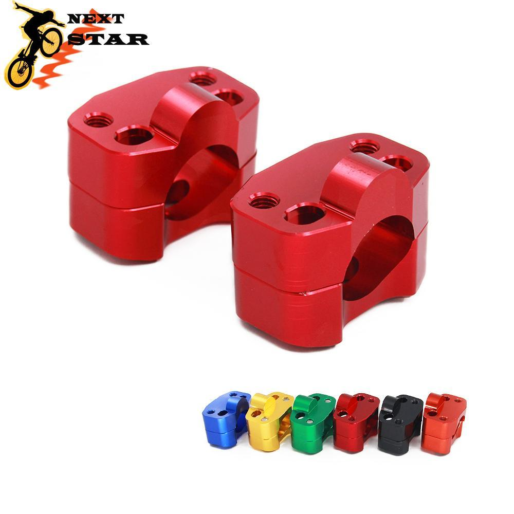 CNC moto billettes HandleBar Fat Bar Risers Clamp Adaptateur 22MM Mont 28mm pour Universal Pit Dirt Bike Supermoto MX VTT