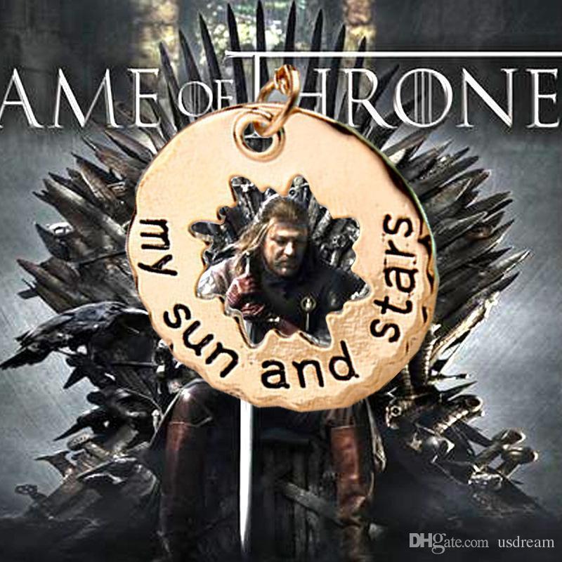 4 MODELLI Gioielli per film Game Of Thrones Collana con ciondolo Khal Khaleesi Moon Of My Life my Sun And Stars collana gioielli amante