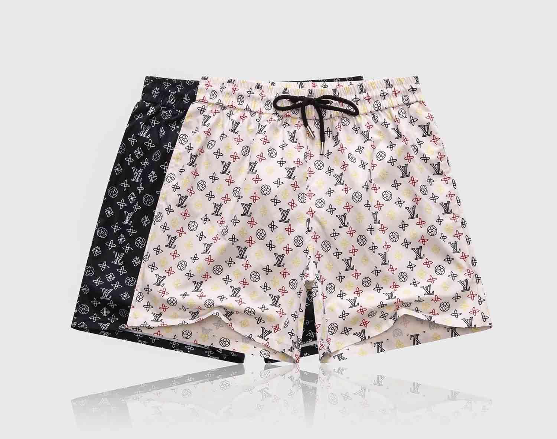 20ss Europea caliente-venta de la marca retro pantalones cortos ocasionales de los pantalones de la playa de los hombres de Nylon de metal cómoda calle par de pantalones del muslo