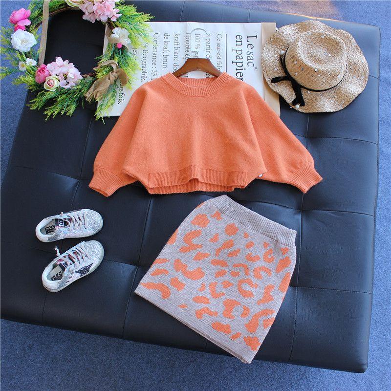 Nova Chegada Crianças Outono e Primavera roupa do bebê As meninas camisola de manga longa Set filhos de malha Terno Meninas do Agasalho