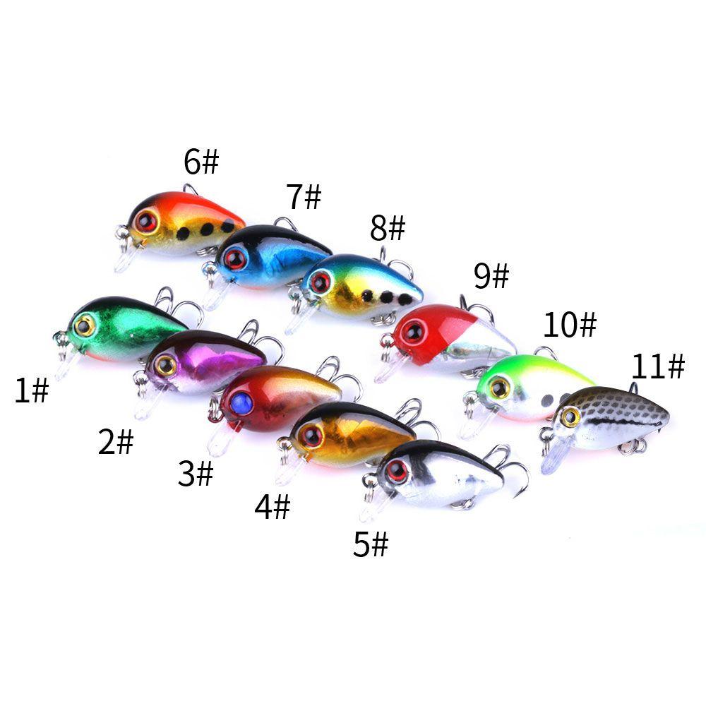 New Crank Hard Esche da pesca 3CM 1.5G 10 # ganci Esca dura Esca per bastone Esche giapponesi Profondità di immersione: 0.1-0.2 M 30 PZ spedizione gratuita