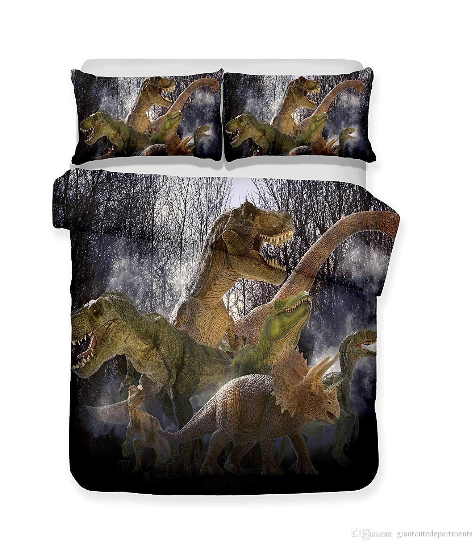 Dinosaur Series Lifelike Bedding Set 3D Print Duvet Cover Doona Cover Set Bed linen Home Textiles24
