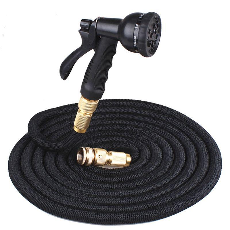 25FT Retractable Hose Naturlatex Erweiterbare Gartenschlauch Gartenbewässerung Waschen Auto schnell Anschluss Wasserschlauch mit Wasserpistole DBC DH0756